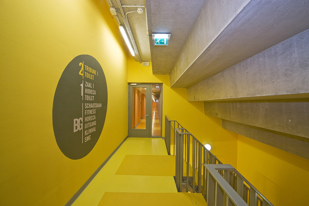 T-Kwadraat gebouw Tilburg met het Ireen W?st IJsstadion, ontworpen door BO2 Architecten